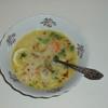 Французский рисовый суп со сметаной и лимоном